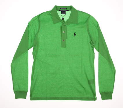 New Womens Ralph Lauren Golf Tailored Golf Fit Long Sleeve Polo Medium M Green MSRP $95 0476458