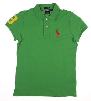 New Womens Ralph Lauren Golf Tailored Golf Fit Solid Polo Small S Green MSRP $90 0476404