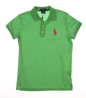 New Womens Ralph Lauren Golf Tailored Golf Fit Solid Cotton Polo Small S Green MSRP $90 0476449