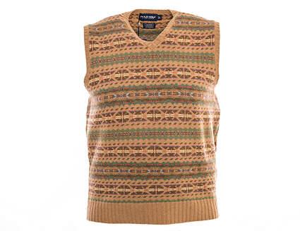 New Mens Ralph Lauren Polo Golf Wool Blend Sweater Vest Large L Multi MSRP $225 0118985