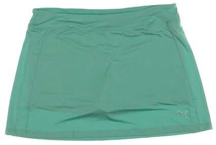 New Womens Puma Golf Solid Knit Skort Size Large L Mint Leaf MSRP $55 570561-05