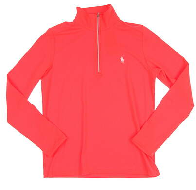 New Womens Ralph Lauren Golf 1/2 Zip Pullover Large L Red MSRP $125