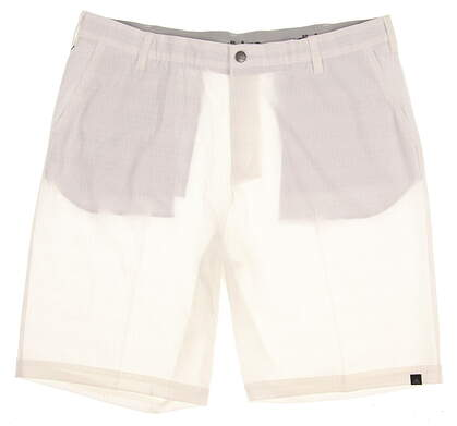 New Mens Adidas Golf Ultimate Dot Plaid Shorts Size 38 White MSRP $70 AE4209