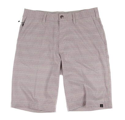 New Mens Adidas Golf Ultimate Dot Plaid Shorts Size 30 Gray MSRP $70 AE4212