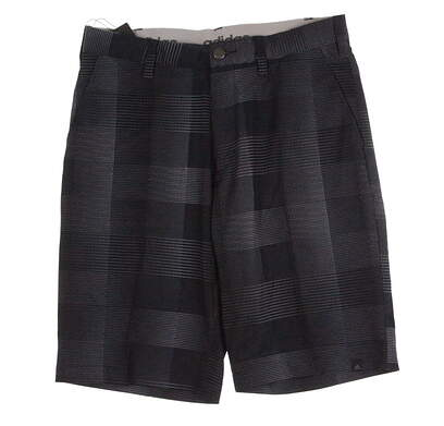 New Mens Adidas Golf Ultimate Competition Plaid Shorts Size 30 Midnight Blue / Gray MSRP $75 AE9220
