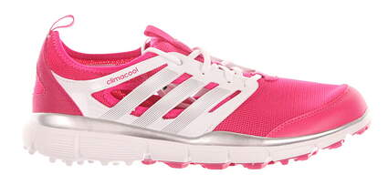 New Womens Golf Shoe Adidas Climacool II Medium 9 Pink / White / Silver MSRP $90 F33303