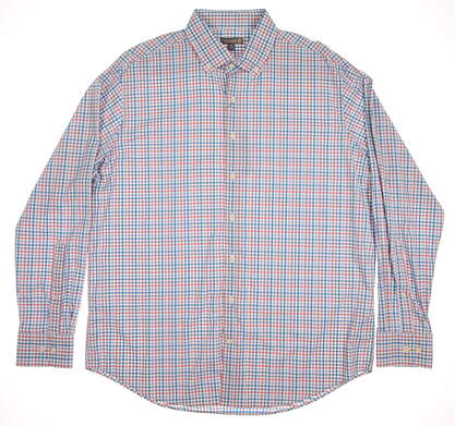 New Mens Peter Millar Golf Button Up X-Large XL Multi MSRP $135 MS16EW11