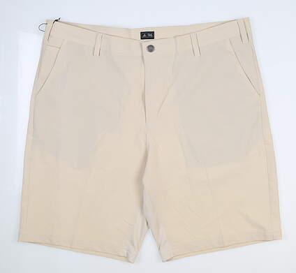 New Mens Adidas Golf ClimaCool Stretch Ventilation Shorts Size 38 Ecru MSRP $75 98333