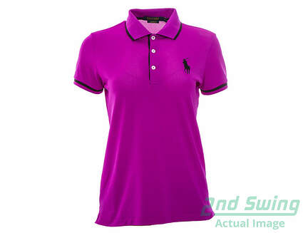 New Womens Ralph Lauren Golf Polo Small S Purple MSRP $95