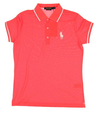 New Womens Ralph Lauren Golf Polo Medium M Orange MSRP $96