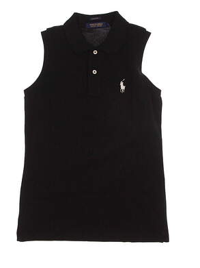 New Womens Ralph Lauren Golf Sleeveless Polo X-Small XS Black MSRP $89