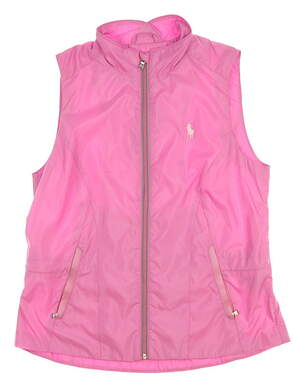 New Womens Ralph Lauren Golf Vest Medium M Pink MSRP $110