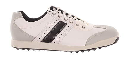New Mens Golf Shoes Footjoy Contour Casual Medium 10 White/Black 54290 MSRP $100