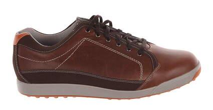New Mens Golf Shoes Footjoy Contour Casual Medium 9.5 Brown 54222 MSRP $115