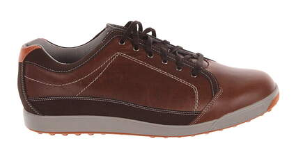 New Mens Golf Shoes Footjoy Contour Casual Wide 10 Brown 54222 MSRP $115