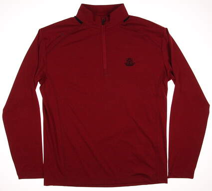 New W/ Logo Mens Ping Golf Sensor Cool Largo 1/2 Zip Pullover Large L Red MSRP $79 P03169