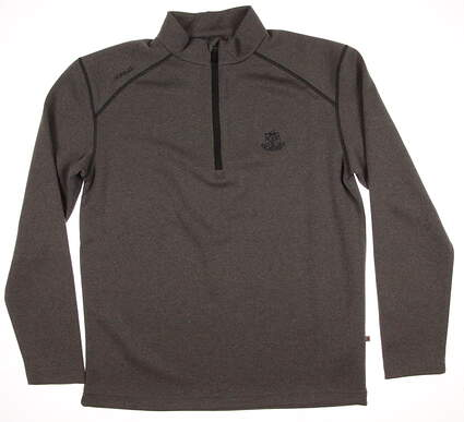 New W/ Logo Mens Ping Golf Kelvin 1/2 Zip Pullover Fleece Medium M Gray MSRP $89 P03232