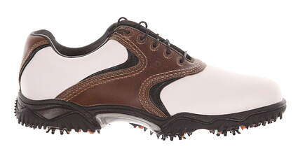 New Mens Golf Shoes Footjoy Contour Medium 11 White/Brown 54002 MSRP $125