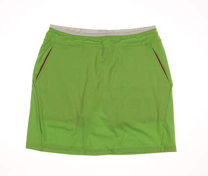 New Womens Ralph Lauren Polo Golf Solid Skort Size Medium M Green MSRP $98