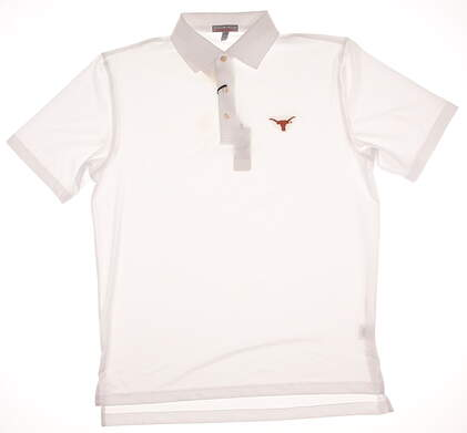 New W/ Logo Mens Peter Millar Golf Solid Stretch Jersey Polo Medium M White MSRP $79 MC0EK01