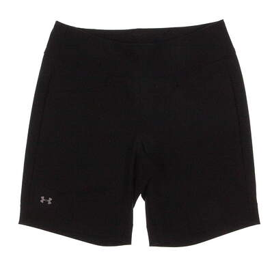 New Womens Under Armour Essential Stretch Golf Shorts Size Medium M Black MSRP $70