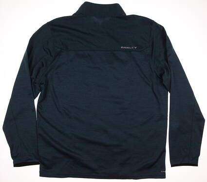 New Mens Oakley Golf Scores 1/4 Zip Pullover X-Large XL Blue MSRP $80 461315