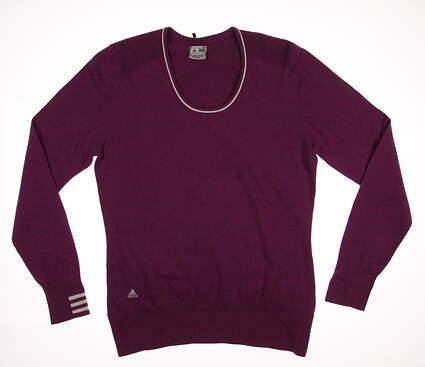 New Womens Adidas Golf Sweater Large L Purple MSRP $80 W46556
