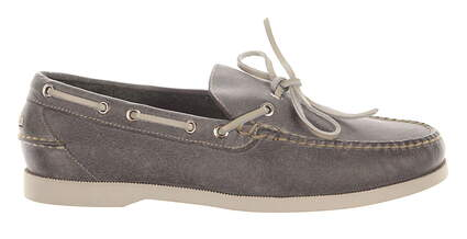 New Mens Golf Shoe Peter Millar Casual Boat Shoe Medium 10 Gray MSRP $145 MC00F08