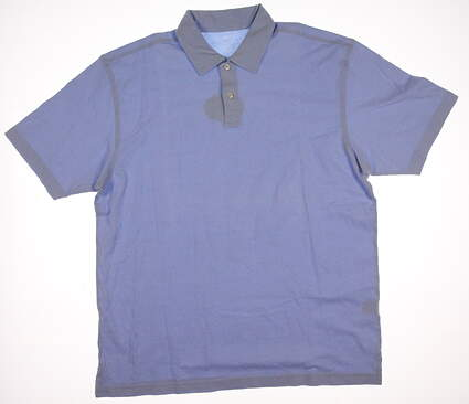 New Mens Peter Millar Golf Sun Washed Mesh Polo Large L Blue MSRP $78 MC00K07