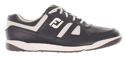 New Mens Golf Shoe Footjoy Greenjoys Medium 10 Navy/Grey MSRP $120