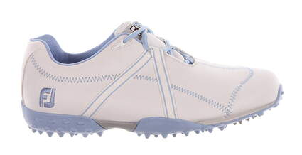 New Womens Golf Shoe Footjoy M Project Medium 7.5 White/Blue MSRP $180