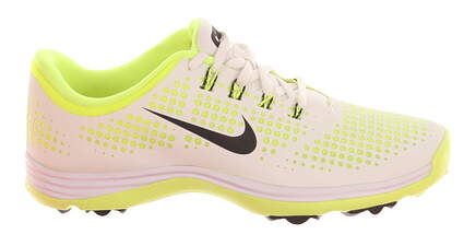 New Womens Golf Shoe Nike Lunar Empress Medium 7 White/Volt MSRP $100