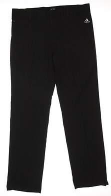 New Mens Adidas Golf Puremotion Stretch 3-Stripes Pants 33x32 Black MSRP $70 B82630