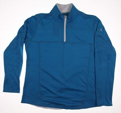 New W/ Logo Womens Adidas Golf Climawarm 1/4 Zip Pullover X-Large XL Blue MSRP $75 Z83842