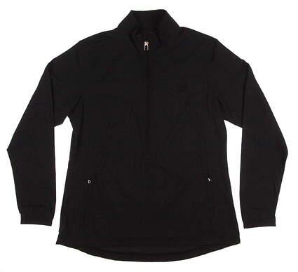 New W/ Logo Womens Cutter & Buck Golf WeatherTec L/S Naomi 3/4 Zip Jacket Large L Black MSRP $70 LCO01204
