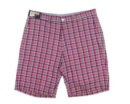 New Mens Ralph Lauren Links Fit Classics Shorts Size 32 Multi (Pink Plaid) MSRP $80
