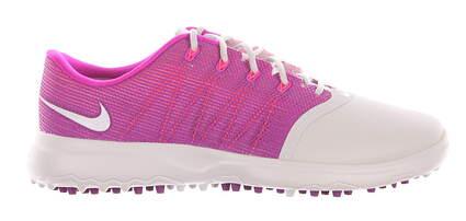 New Womens Golf Shoe Nike Lunar Empress 2 8.5 White/Purple MSRP $120