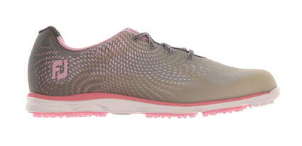 New Womens Golf Shoe Footjoy emPOWER Medium 9.5 Gray/Pink MSRP $120