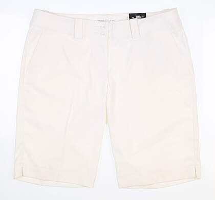 New Womens Nike Golf Modern Rise Tech Shorts Size 10 White MSRP $70 618148 100