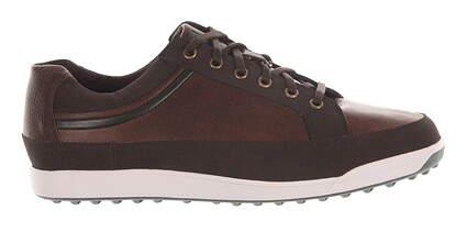 New Mens Golf Shoe Footjoy Contour Casual Medium 11 Brown MSRP $140