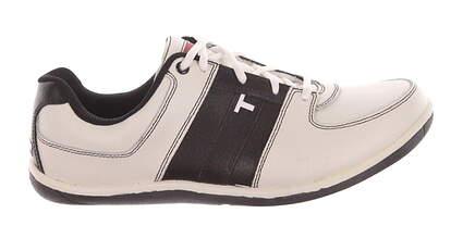New Mens Golf Shoe True Linkswear Vegas 9 White/Black MSRP $230