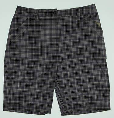 New Womens EP Pro Golf Chantilly Plaid Shorts Size 4 Purple / White MSRP $78 8411ZA