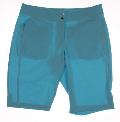 New Womens EP Pro Golf Shorts Size 10 Blue MSRP $95