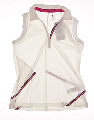 New Womens EP Pro Sport Golf Sleeveless Polo Medium M White MSRP $75