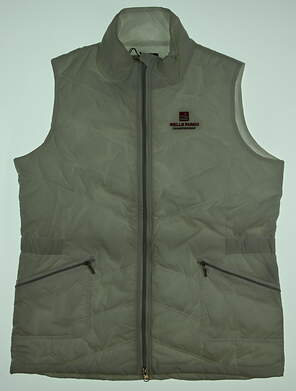 New W/ Logo Womens Kate Lord Golf Vest Medium M White MSRP $50