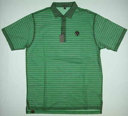 New W/ Logo Mens Peter Millar Golf Polo Large L Green MSRP $85