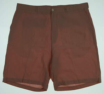 New Mens Fairway & Greene Linen Flat Front Golf Shorts Size 40 Pink MSRP $73