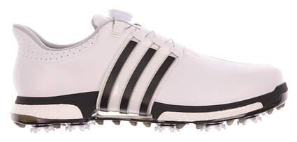 New Mens Golf Shoe Adidas Tour 360 BOA Boost 9.5 White/Black MSRP $230