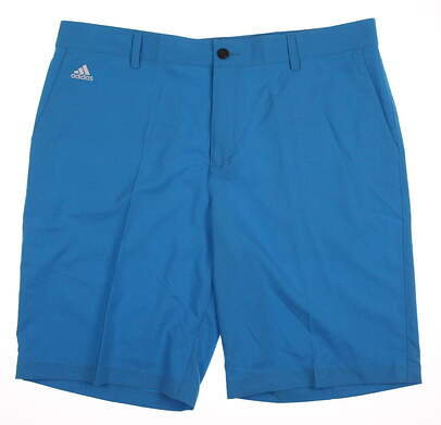 New Mens Adidas 3-Stripe Tech Golf Shorts Size 38 Blue MSRP $60