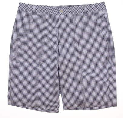 New Mens Puma Plaid Golf Shorts Size 38 Blue MSRP $70